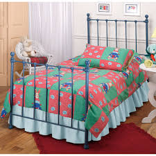 Durango Youth Bedroom Furniture Molly Iron Kids Metal Bed In Blue Humble Abode