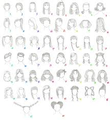 anime hairstyles drawings long and short haircuts