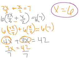 solving multi step equations with fractions method 1 and 2 math showme