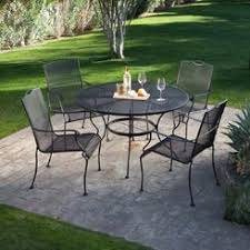 5 patio set 5 wrought iron patio furniture
