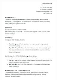 sample resume for accounting student best training internship