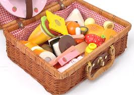 picnic gift basket baby toys garden strawberry picnic basket set wooden toys