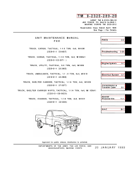 1973 88 military chevy truck manual1 axle steering