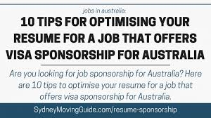 How To Do A Simple Resume For A Job by Sydney Moving Guide Everything You Need For Your Move To
