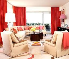 Pink And Orange Curtains Living Rooms Living Room Orange Curtains Black Living Room