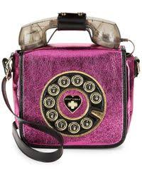 floral foil lyst betsey johnson floral foil crossbody bag in purple