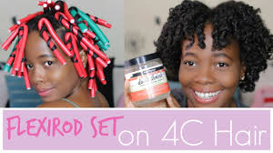 flexi rod stretch long 4b c hair how to use flexi rods on 4c natural hair using auntie jackie s