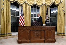 gold curtains in the oval office donald trump thinks his new gold oval office curtains are from fdr