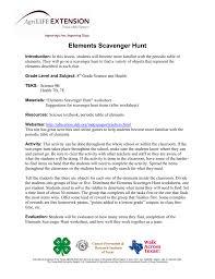 lesson plan elements scavenger hunt