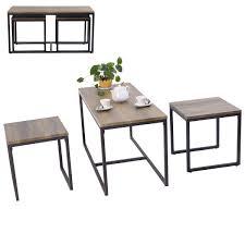livingroom table sets amazon com giantex 3 nesting coffee end table set wood