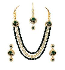 green necklace set images Peral kundan sets jpg