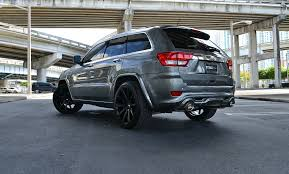 black jeep grand with black rims xo matte black staggered concave wheels porsche cayenne