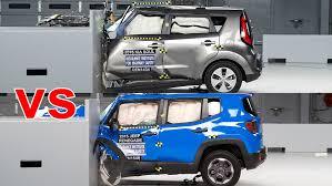 jeep renegade hatchback crash test 2016 jeep renegade vs 2016 kia soul youtube