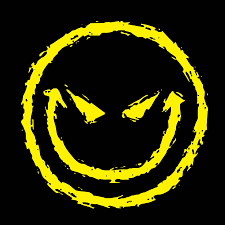 evil smiley face gothic funny shirt zombies t shirts blackout tees