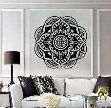 online get cheap buddhist wall murals aliexpress com alibaba group mandala buddhist vinyl wall stickers hindu religion symbol wall decals decor living room wallpaper high quality mural sa844