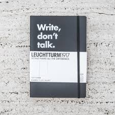 leuchtturm 1917 notebook notebook write don t talk leuchtturm 1917