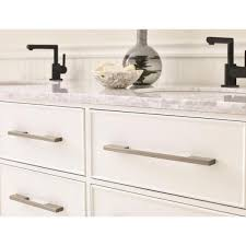 kitchen cabinets with silver handles amerock separa 10 1 16 in 256 mm center to center silver