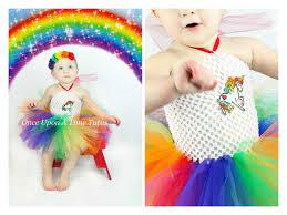 rainbow unicorn tutu dress girls size newborn 3 6 9 12 18