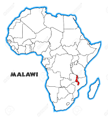 Malawi Map Malawi Outline Inset Into A Map Of Africa Over A White Background