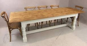 RECLAIMED PINE REFECTORY TABLE - Old pine kitchen table
