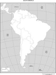 outline of south america map south america political outline map