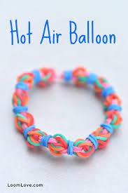 air bracelet how to make a rainbow loom hot air balloon bracelet