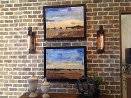 sconces next to pictures new dining rooms walls