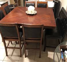 Wooden Dining Table Chairs Large Cherry Wood Dining Table 8 Seater 6 Chairs Plus 2 Seat