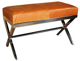 medium chrome x bench vintage leather u2013 taylor burke home