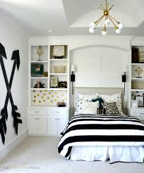 How To Be A Classy Teen by Teen U0027s Room Gray Striped Walls Black And White Bedding