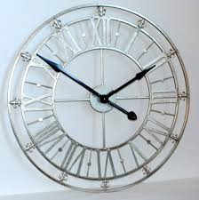 silver wall clocks large wall clocks decoration