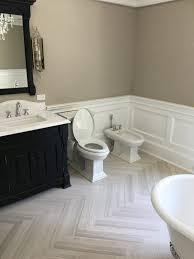 Bathroom Wood Paneling Wooden Beige Bathroom Rai Designs