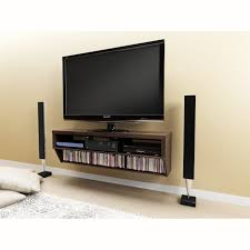 brown wooden cabinet and rectangle black led tv on cream living