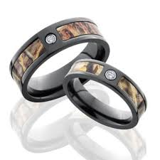 black wedding rings his and hers his camo wedding bands camo wedding rings free shipping