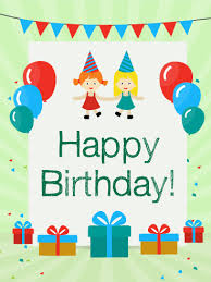 birthday cards for kids birthday party with friends card for kids birthday greeting