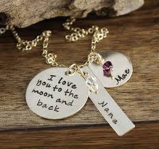 Necklaces With Children S Names I Love You To The Moon U0026 Back