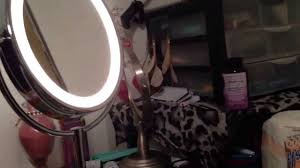conair led lighted mirror conair light up vanity mirror unboxing youtube