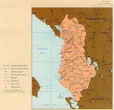 map of be albania maps perry castañeda map collection ut library