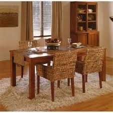 Azzling Dining Room Chairs With Rattan Wicker Image - Wicker dining room chairs