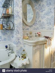 Vintage Vanity Units For Bathrooms Vintage Washbasin In Vanity Unit With Louvred Doors In Cottage