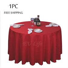 table linen wholesale suppliers wholesale 1pc polyester wedding christmas tablecloth jacquard red