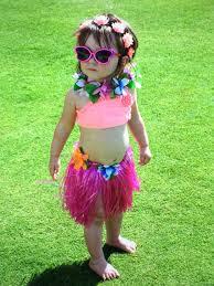 baby toddler hula hawaiian tahitian baby pink grass skirt