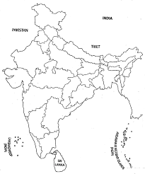 India Physical Map by India Map Outline A4 Size Map Of India With States Pinterest