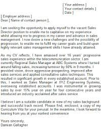 sales manager covering letter sample