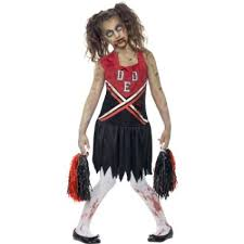 girls zombie cheerleader costume halloween dress up 43023