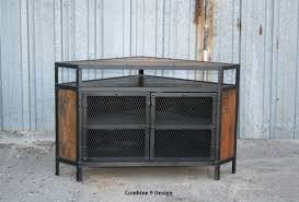 Tv Tables Wood Modern Buy A Custom Vintage Industrial Tv Stand Corner Unit Media