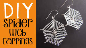 halloween diy spider web earrings tutorial easy halloween