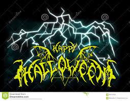 halloween music background halloween emblem in metal rock music style stock illustration