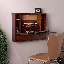 Corner Laptop Desk Wall Mount Laptop Desk Brown Mahogany
