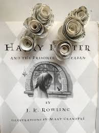 harry potter book flower hair clips